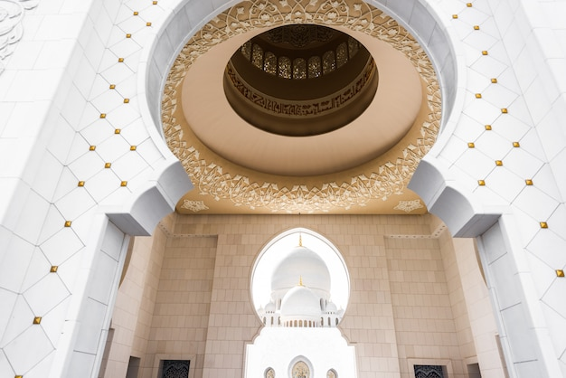 Sheikh zayed grand mosque aus abu dhabi Premium Fotos