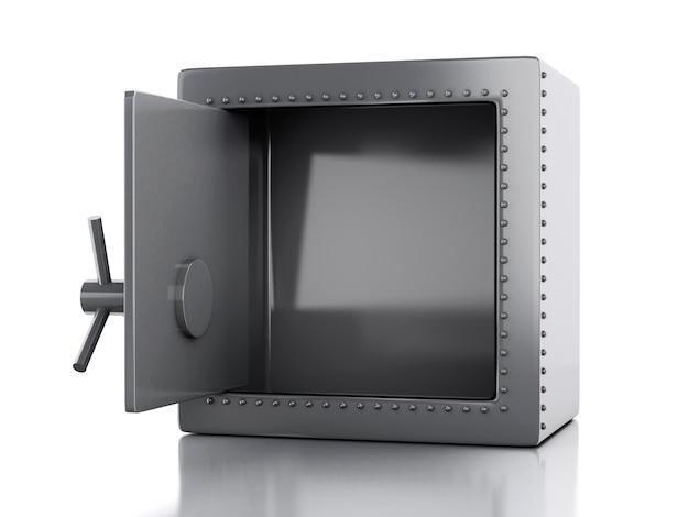 Sicherer kasten 3d. sicherheitskonzept. Premium Fotos