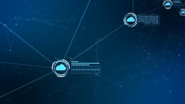 Sicheres globales netzwerk. cyber-sicherheitskonzept der digitalen wolke rechnend Premium Fotos