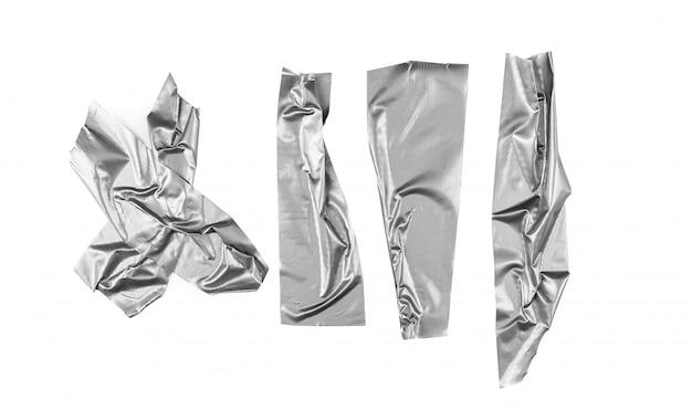 Silberne bandauswahl auf weißem hintergrund Premium Fotos