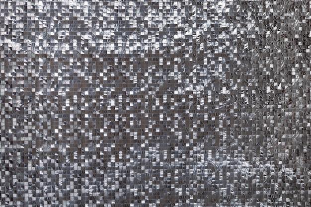 Silberner metallischer dreidimensionaler hintergrund Premium Fotos