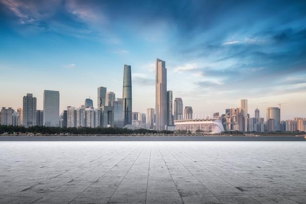 Skyline der modernen stadtarchitektur in china Premium Fotos