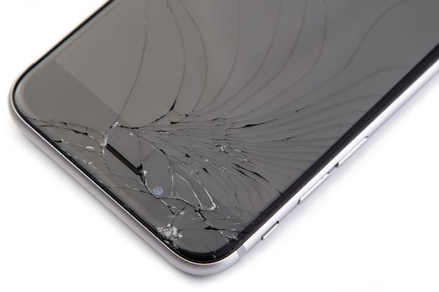 Smartphone mit kaputtem display Premium Fotos