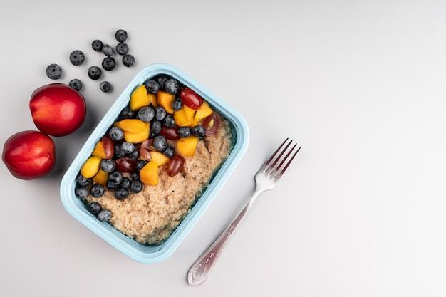 Snack von köstlichen gesunden lebensmitteln Kostenlose Fotos