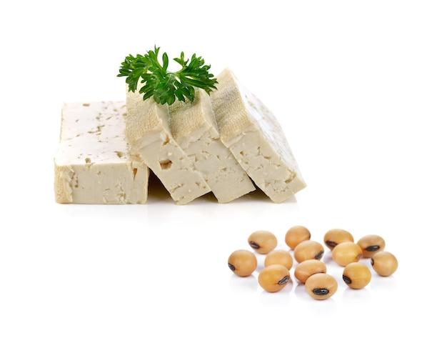 Sojabohnen und tofukäse Premium Fotos