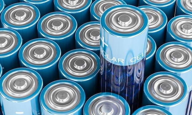 Solarbatterie Premium Fotos