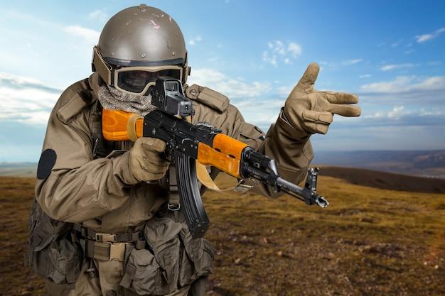 Soldat der spezialeinheit Premium Fotos