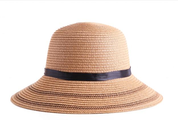Sommer panama-strohhut getrennt auf weiß Premium Fotos