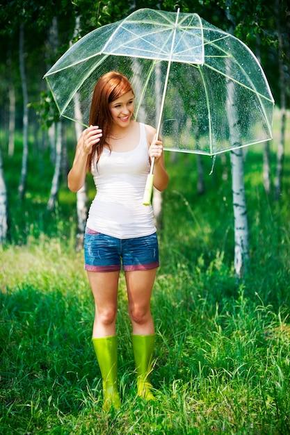 Sommer regnerischer tag im wald Kostenlose Fotos
