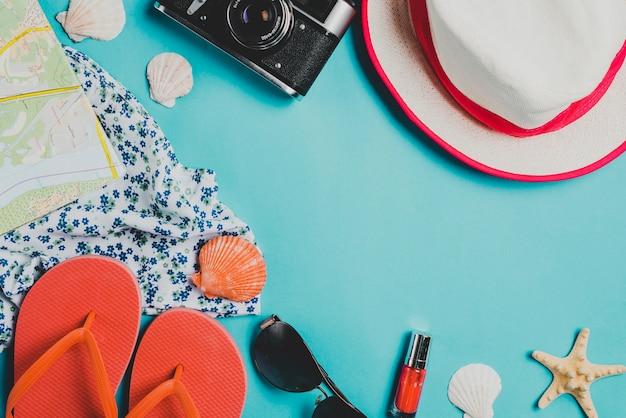 Sommerkonzept mit elementen Kostenlose Fotos