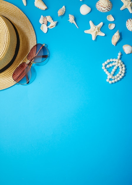 Sommerzubehör urlaub Premium Fotos