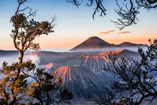 Sonnenaufgang am vulkan mt. bromo (gunung bromo) osttimor, indonesien Premium Fotos