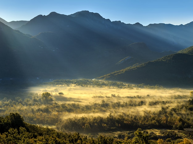 Sonnenaufgang in den bergen Premium Fotos