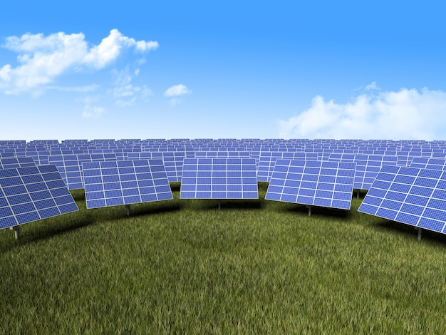 Sonnenkollektor Premium Fotos