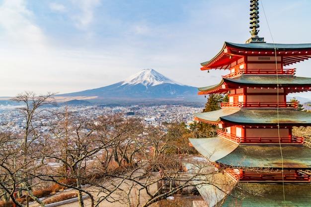 Sonnenuntergang am fuji-berg, japan Premium Fotos