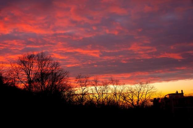 Sonnenuntergang landschaft Premium Fotos