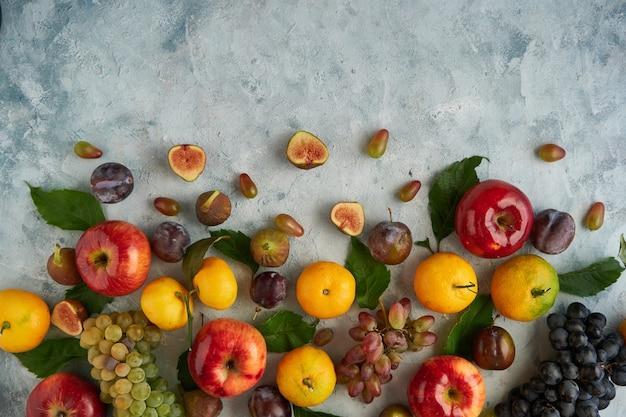 Sortiment gesunder bio-früchte Premium Fotos