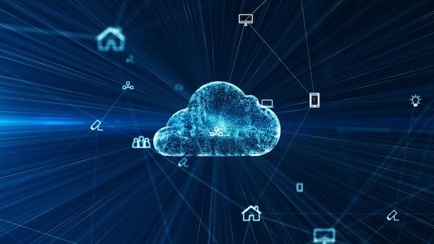 Soziale netzwerkverbindungen und informationstechnologie des internets der dinge iot big data cloud computing. Premium Fotos