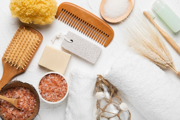 Spa-badekonzeptpaket für hygiene Kostenlose Fotos