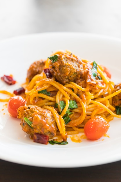 Spaghetti-frikadellen Kostenlose Fotos