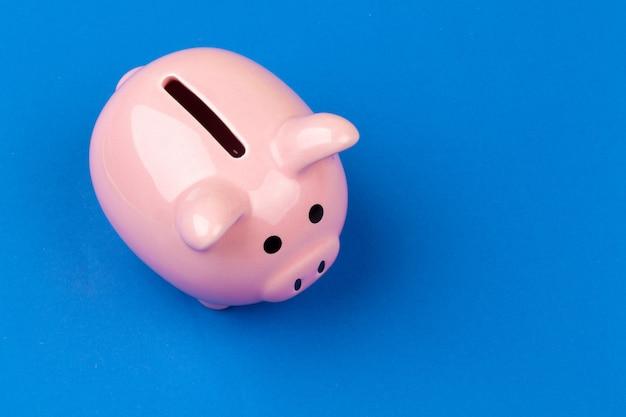 Sparschwein auf farbe Premium Fotos