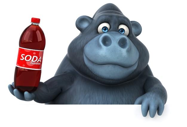 Spaß gorilla illustration Premium Fotos