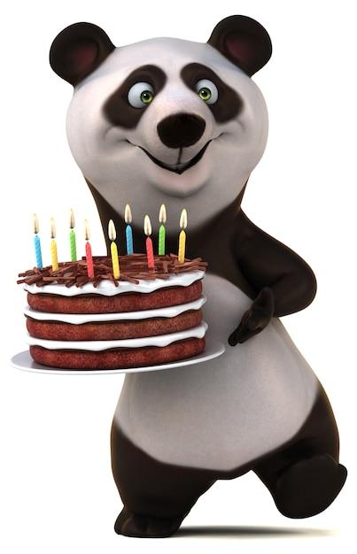 Spaß panda illustration Premium Fotos