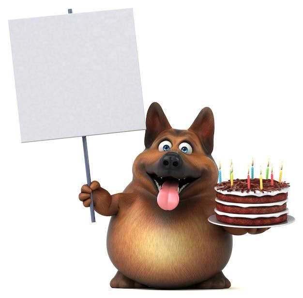 Spaßhund - 3d-illustration Premium Fotos