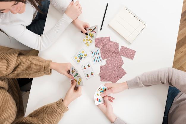 Spielkartenspiel der draufsichtfreunde Kostenlose Fotos