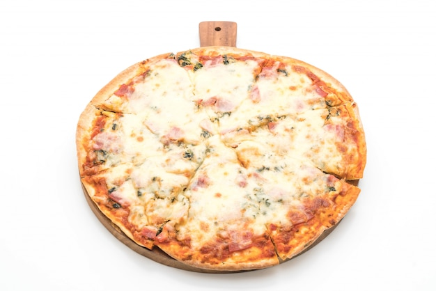 Spinat und speck pizza Premium Fotos