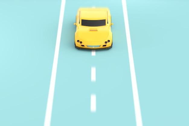 Sportwagen gelb Premium Fotos