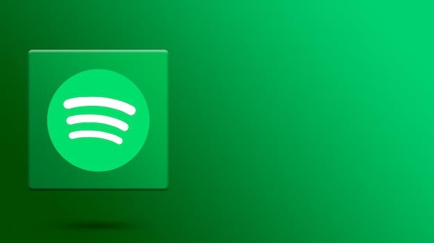 Spotify-logo auf 3d-plattform Premium Fotos