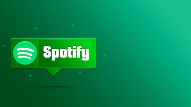 Spotify-logo auf sprachblase 3d rendern Premium Fotos