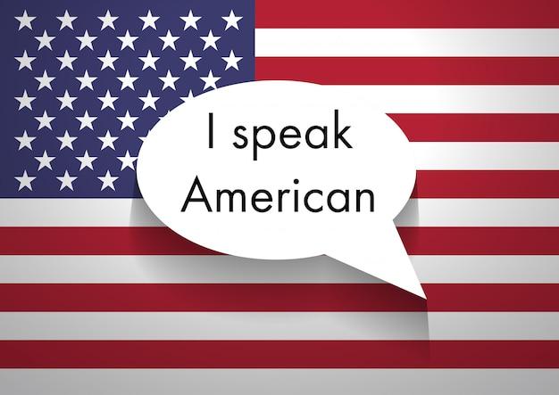 Sprechen amerikanisches englisch Premium Fotos
