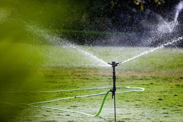 Sprinkler in bauernhof Premium Fotos