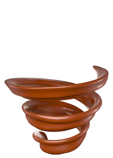 Spritzspirale aus schokolade. Premium Fotos