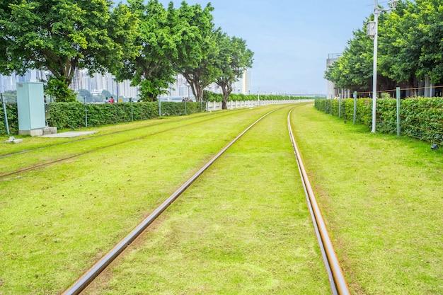 Spuren mit gras Kostenlose Fotos