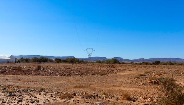 Ssa-zag, marokkanische steinwüstenlandschaft Premium Fotos