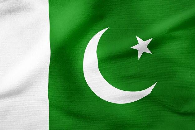 Staatsflagge von pakistan - patriotisches symbol der rechteckigen form Premium Fotos