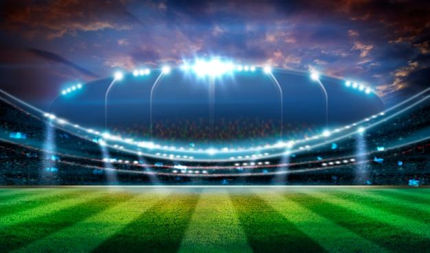 Stadiums-beleuchtungs-hintergrund 3d Premium Fotos