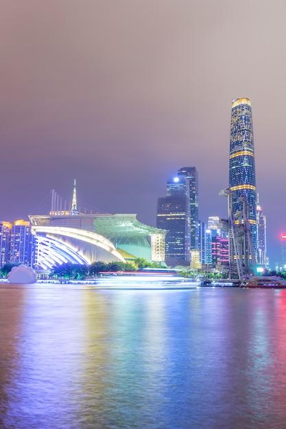Stadt nacht landschaftsarchitektur Premium Fotos