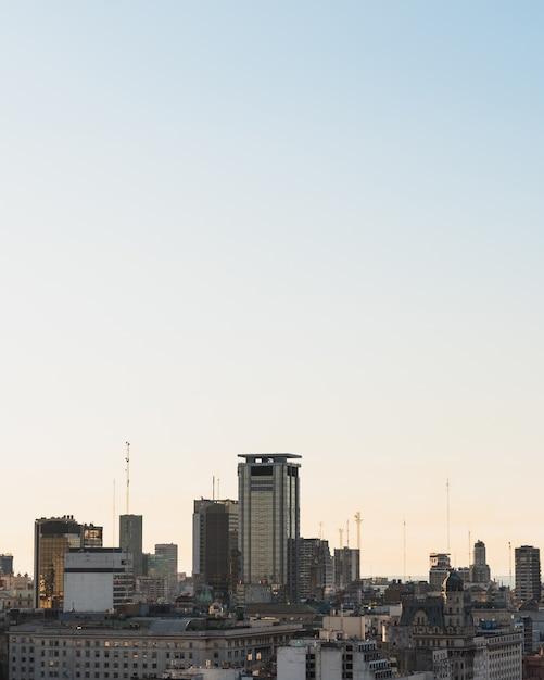 Stadtgebietskyline mit kopieraum Kostenlose Fotos