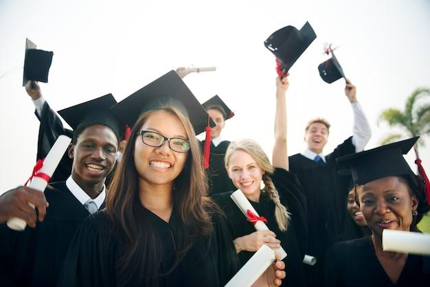 Staffelungs-leistungs-student school college concept Premium Fotos
