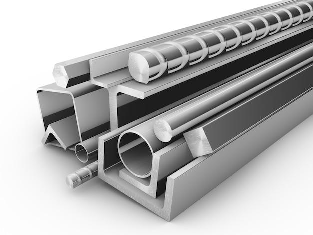 Stahlprodukte für das bauwesen Premium Fotos