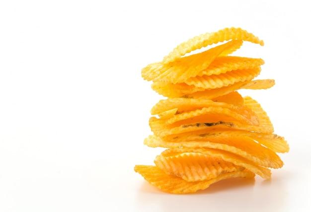 Stapel gebratene snack vorbereitete chips Kostenlose Fotos