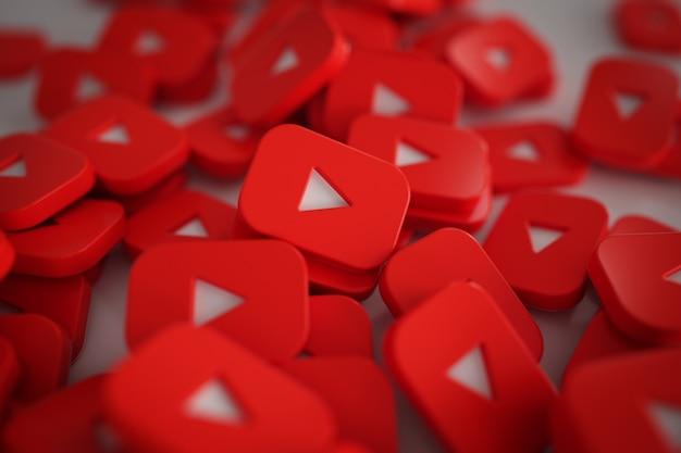 Stapel von 3d play button logos Kostenlose Fotos