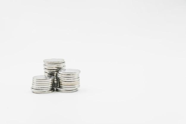 Stapel von glänzenden metallmünzen Kostenlose Fotos