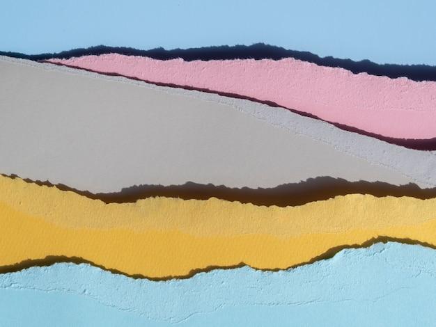 Stapel von zerrissenen abstrakten papierlinien Kostenlose Fotos