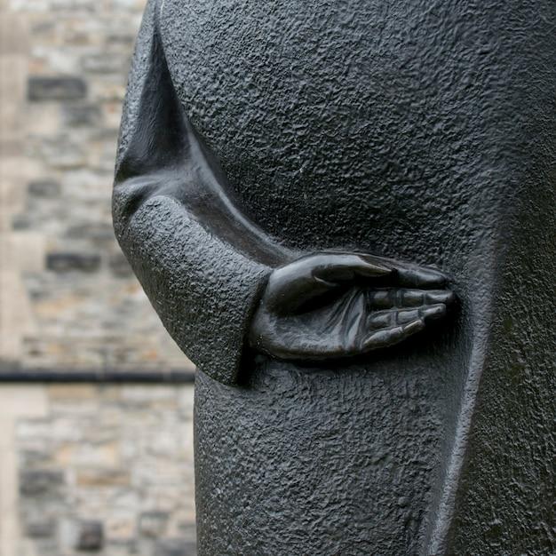 Statue von könig william lyon mackenzie, parlaments-hügel, ottawa, ontario, kanada Premium Fotos