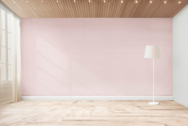 Stehende lampe in einem rosa raum Kostenlose Fotos